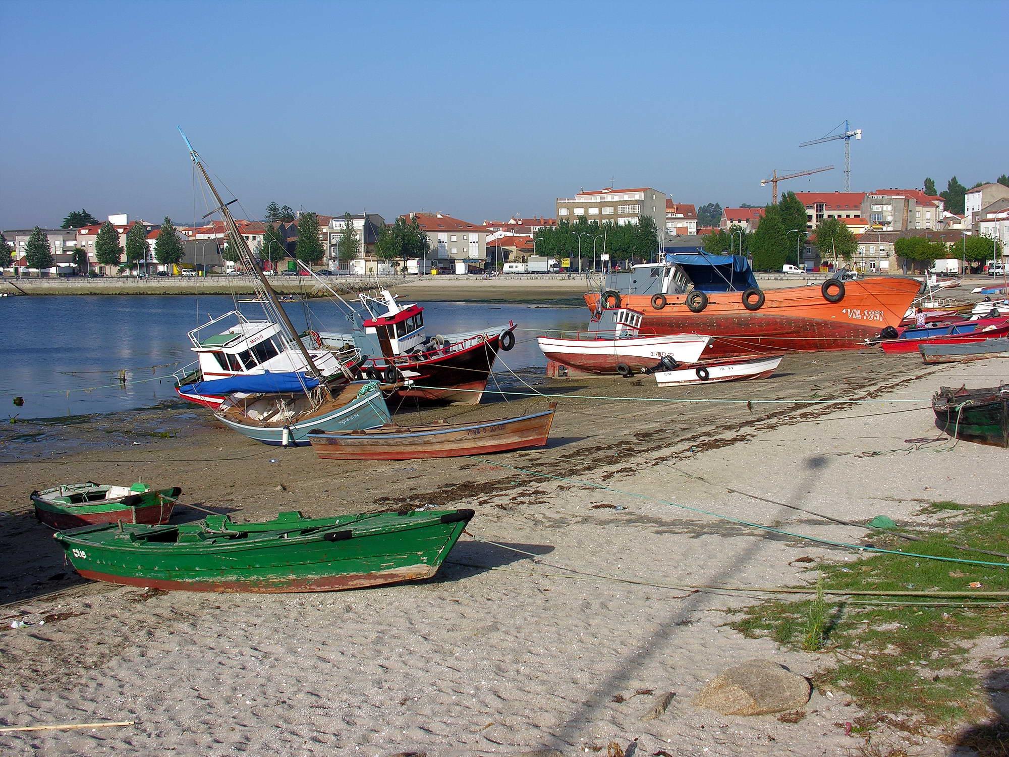 Fisherman's boats at Cambados