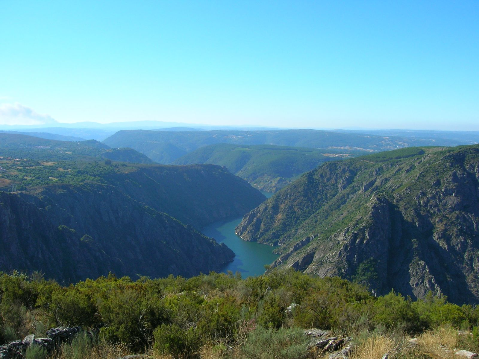 The Sil river canyon