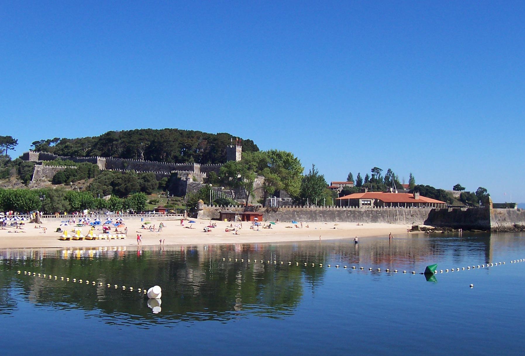 Ribeira Beach, in Baiona